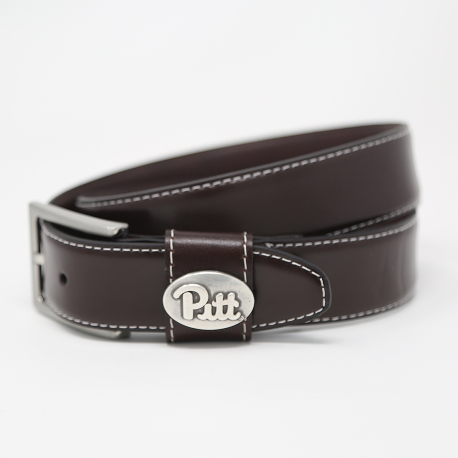 Belt Leather Concho Pitt Script