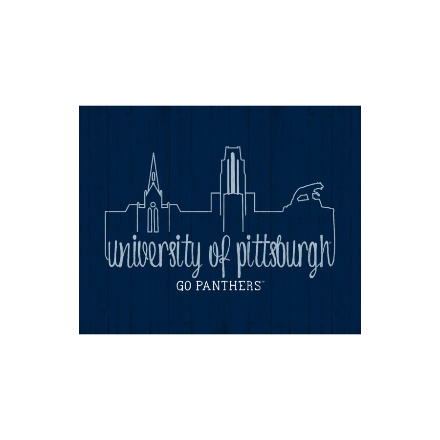 Prints Charming Pitt Panthers Skyline Plaque