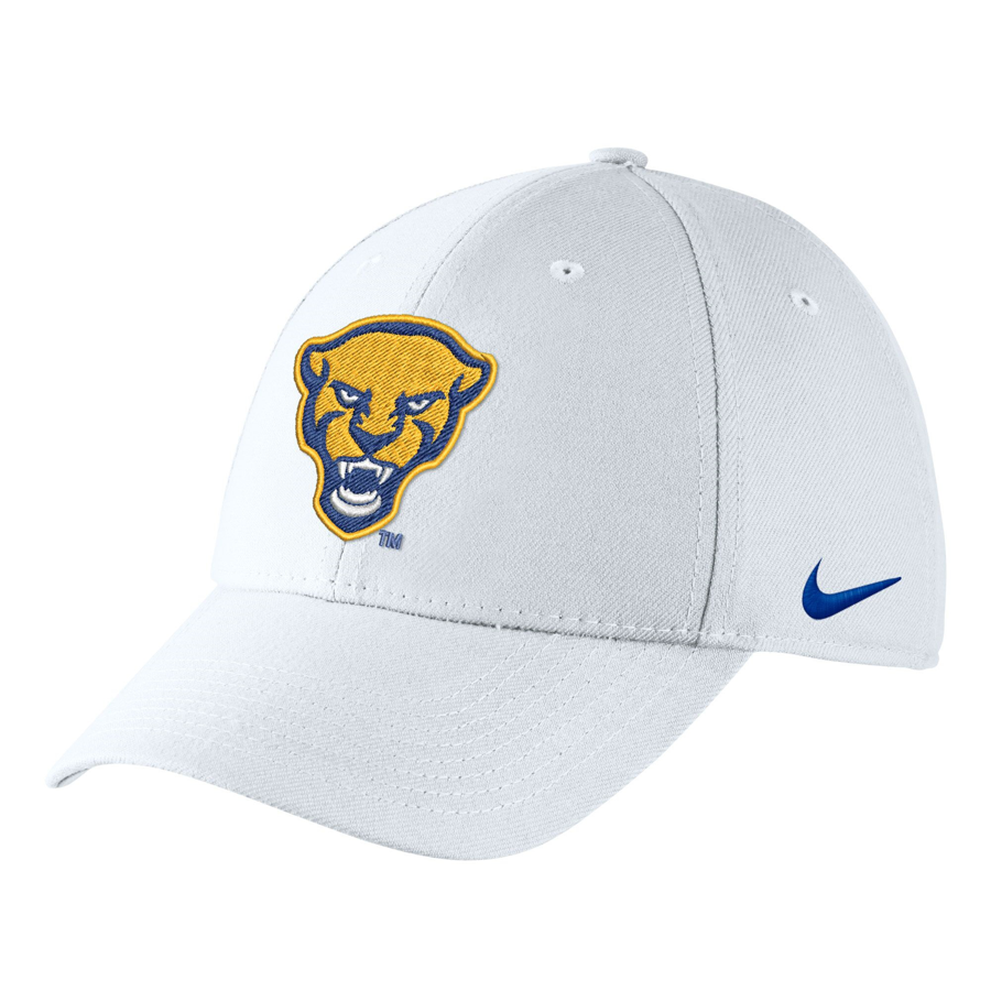 Nike Adult's Panther Head Swoosh Flex Hat - White
