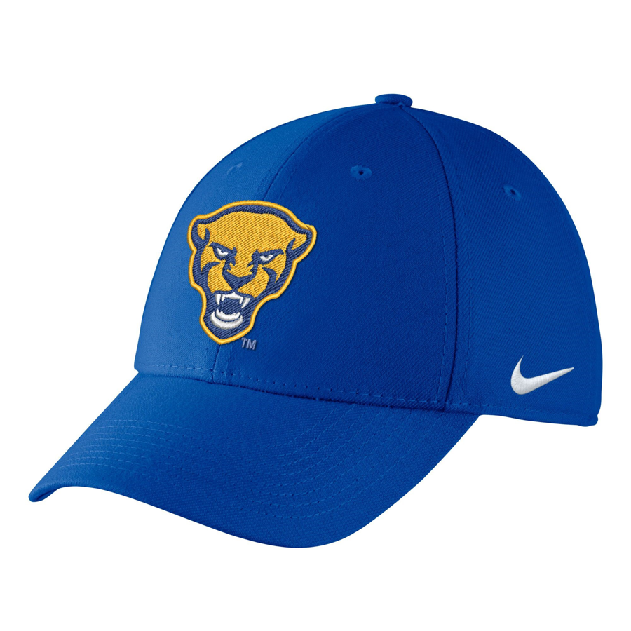 Nike Adult's Panther Head Swoosh Flex Hat - Royal Blue