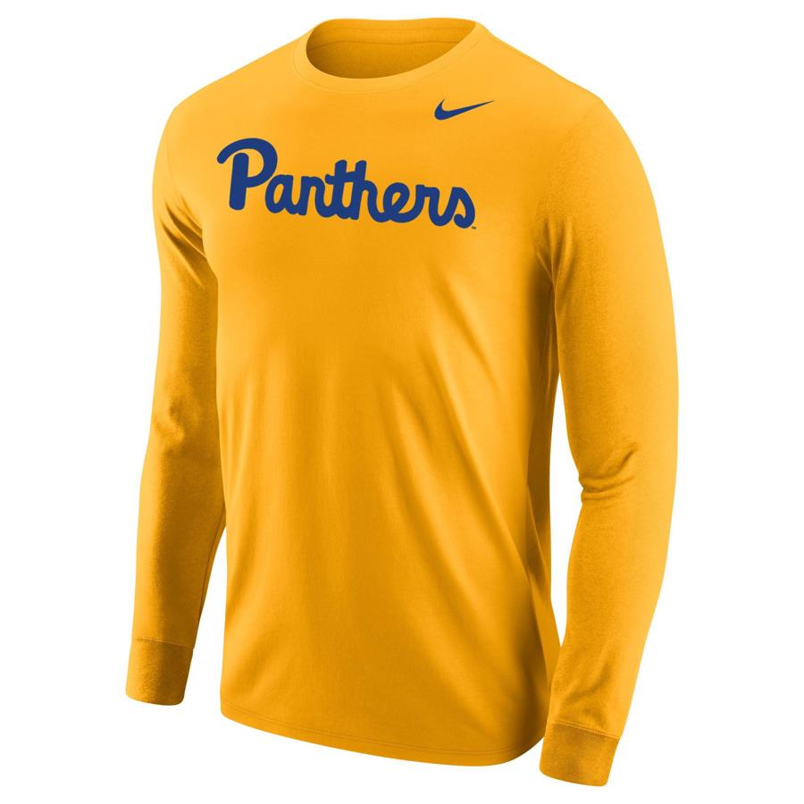 bb47129cd30 Nike Men s Pitt Script Long Sleeve T-Shirt - Gold