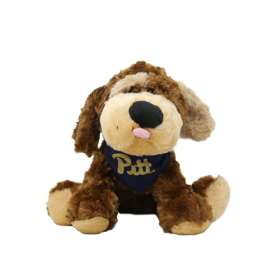 "Plush ""Luke"" Dog with Pitt Script Bandanna"