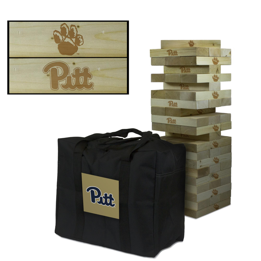 Image For Pittsburgh Panthers Giant Wooden Tumble Tower Game