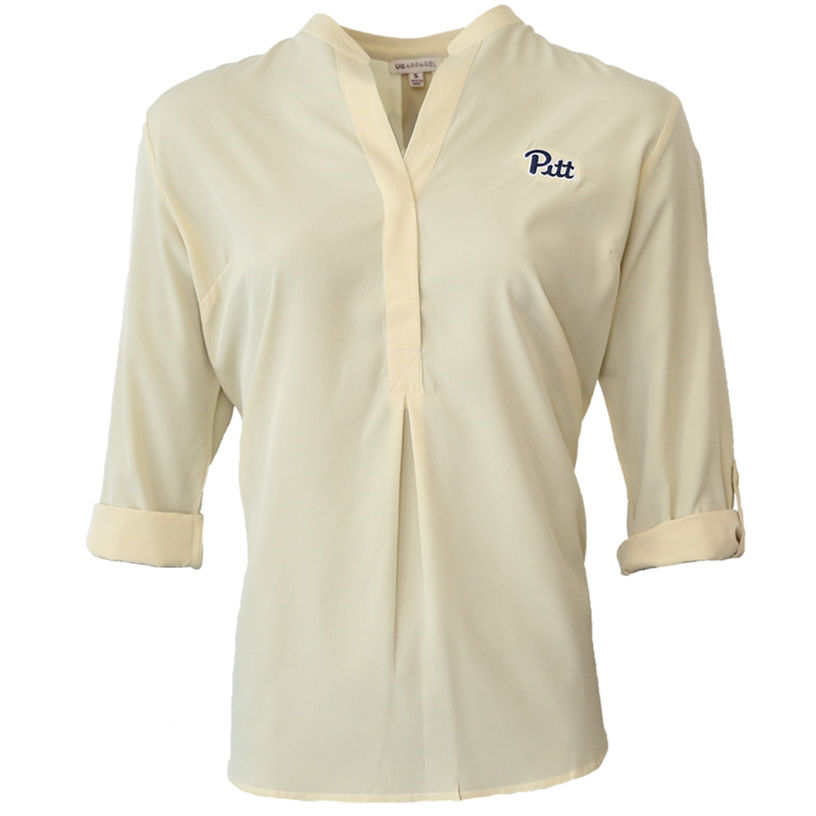 Image For UG Apparel Ladies 1/2 Button Down Yellow