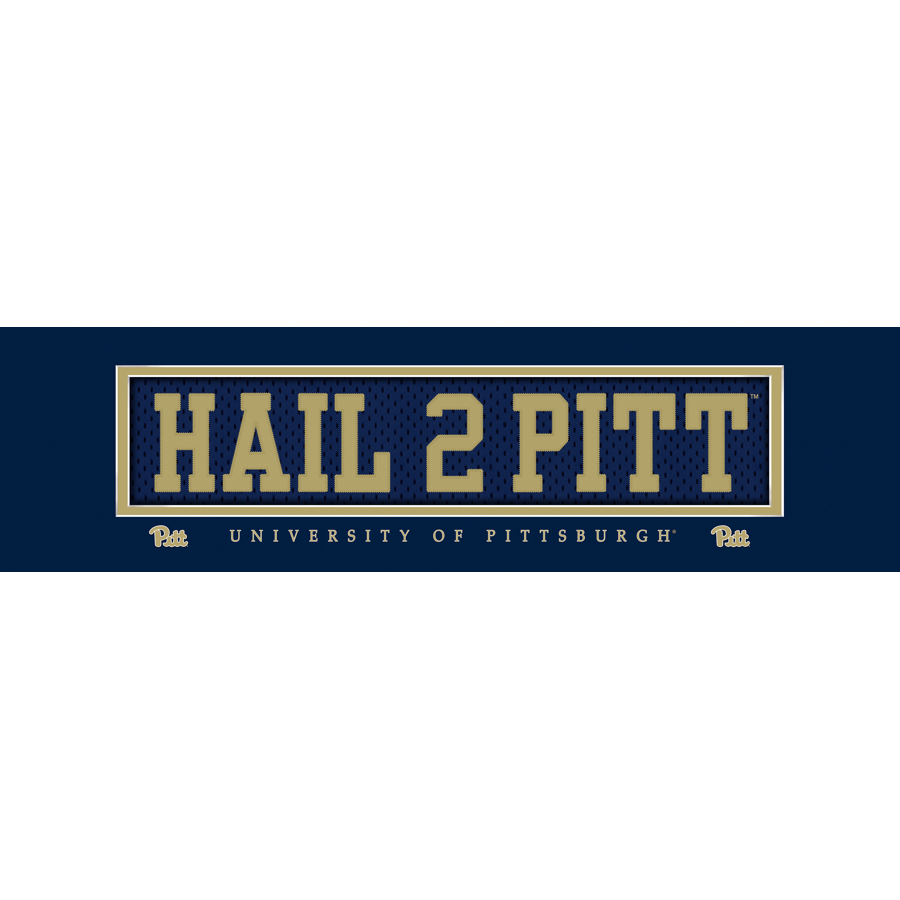 "Image For Prints Charming Pitt Panthers ""HAIL 2 PITT"" Nameplate"