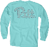 Cover Image for Blue 84 Overdyed Long Sleeve T-Shirt Caribbean