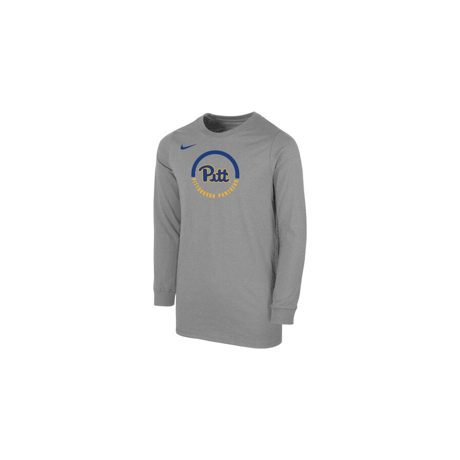 Image For Nike Boy's University of Pittsburgh Core Cotton Long Sleeve