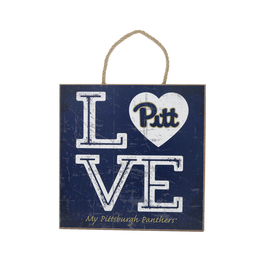 Cover Image For Prints Charming Love My Team PITT plaque