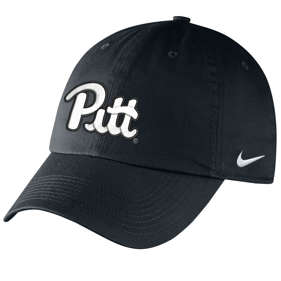 Image For Nike Adult's Script Pitt Campus Hat - Black