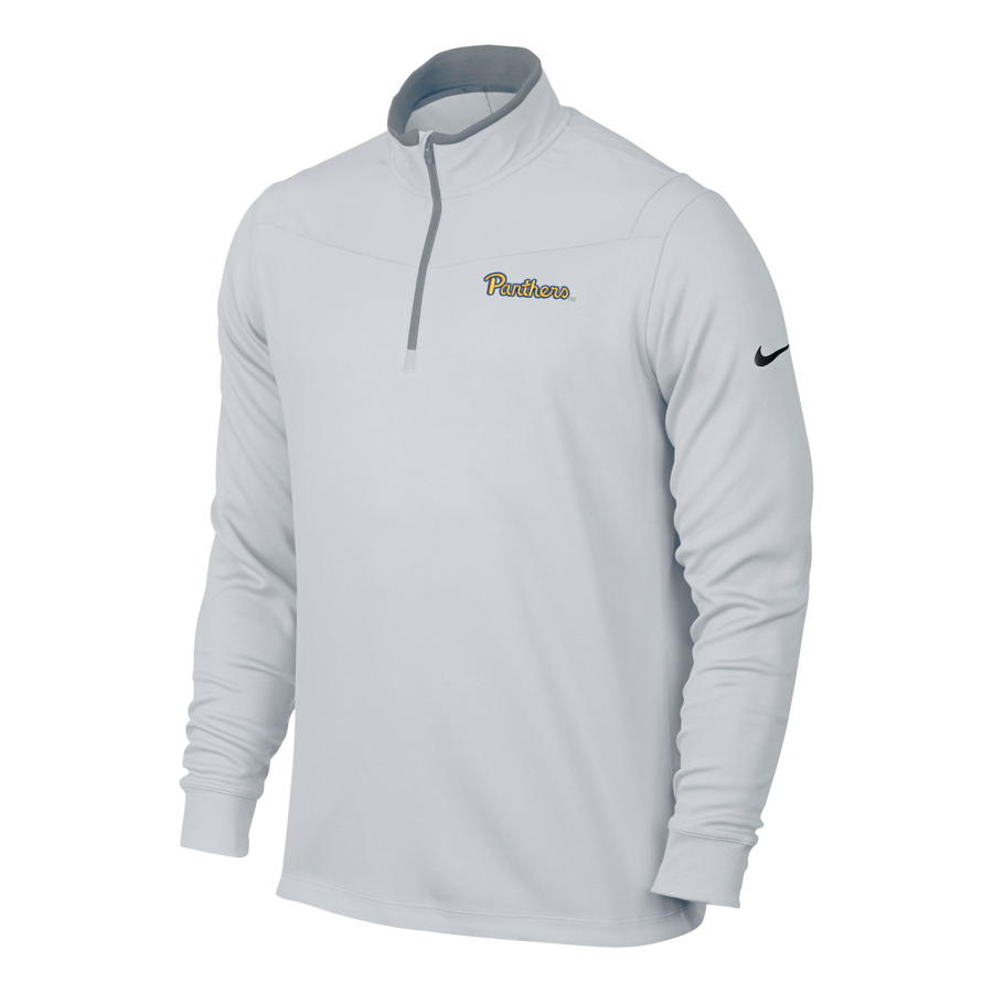 Image For Nike 1/4 Zip Pullover Men's Panthers Script - White