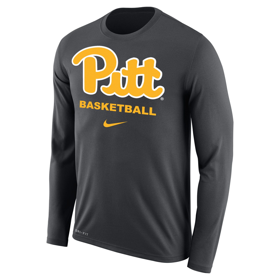 Image For Nike Long Sleeve T-Shirt Pitt Basketball - Grey