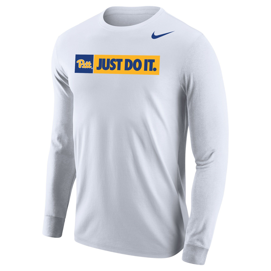 Image For Nike Long Sleeve T-Shirt Pitt Just Do It - White