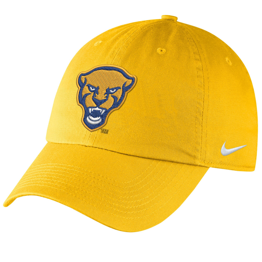 Image For Nike Adult's Campus Adjustable Hat Panther Head - Gold