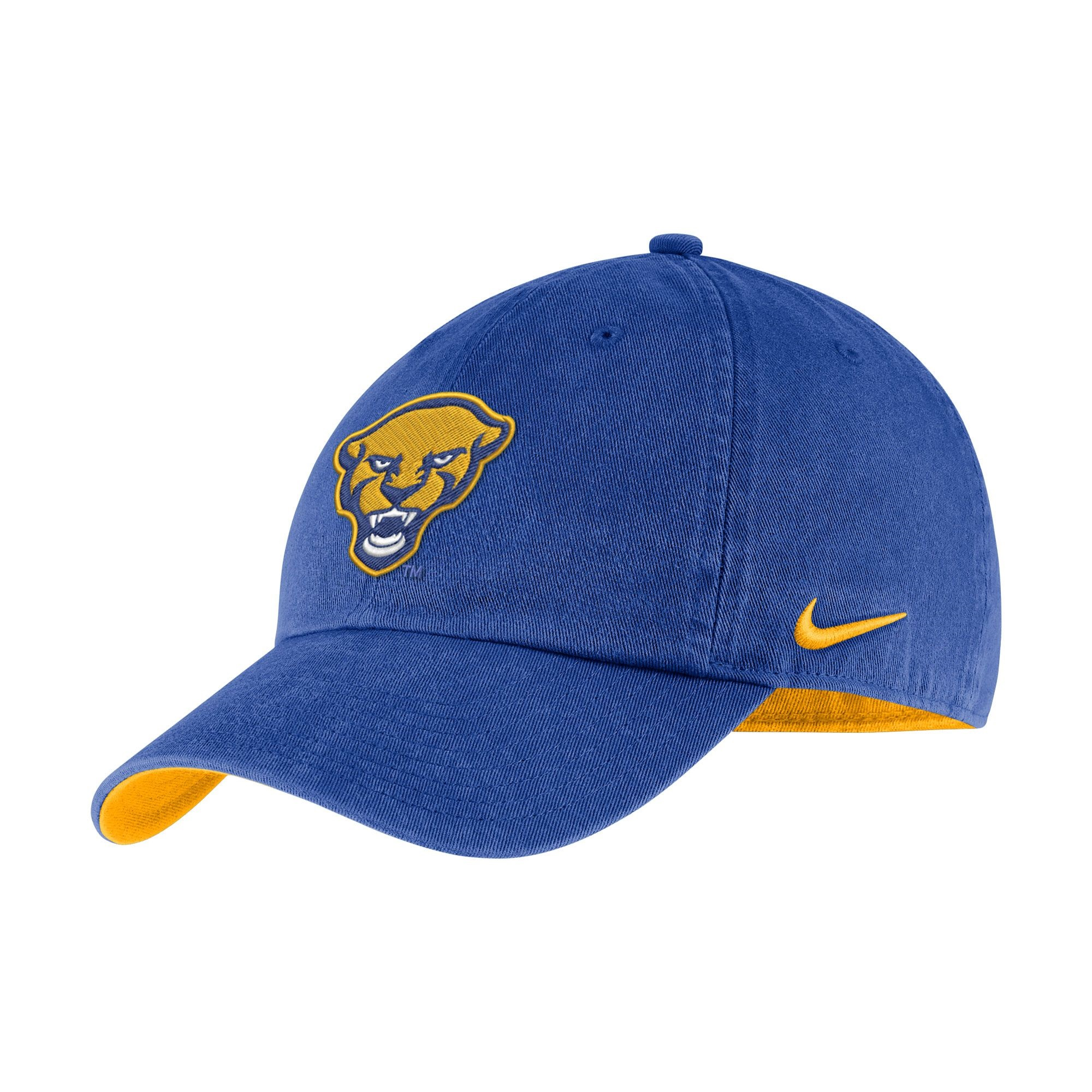 Image For Nike Adult's Panther Head H86 Washed Hat - Royal Blue
