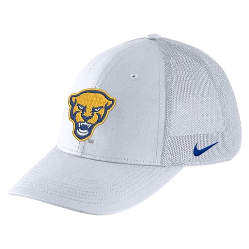 Cover Image For Nike Adult's Pitt Script Aerobill Flex Hat - White