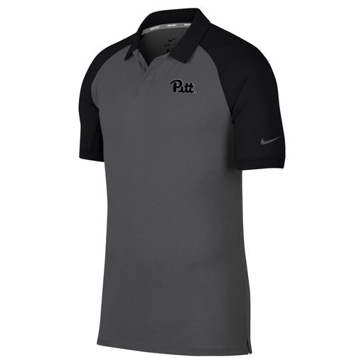 Image For Nike Polo Men's Dry Raglan - Black Sleeves