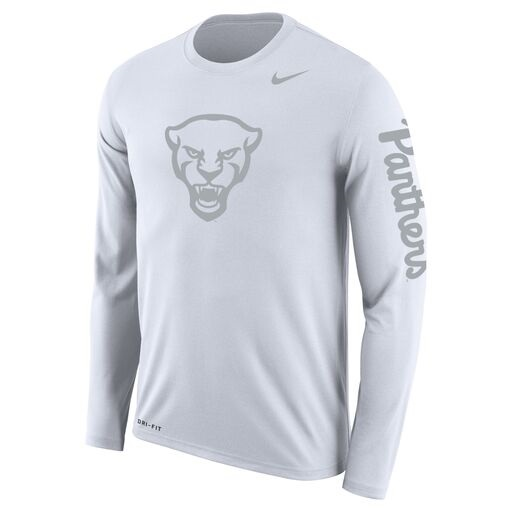 Image For Nike Long Sleeve Shirt Dri-FIT Panther Head - White