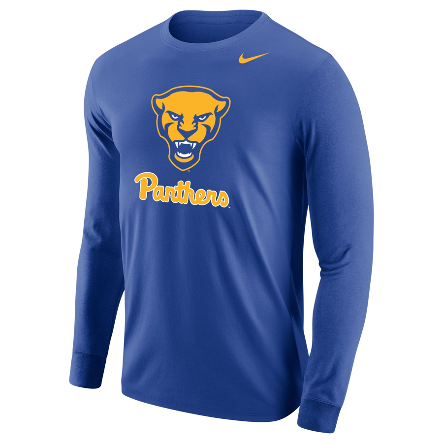 Image For Nike Long Sleeve T-Shirt Men's Panther Head - Royal