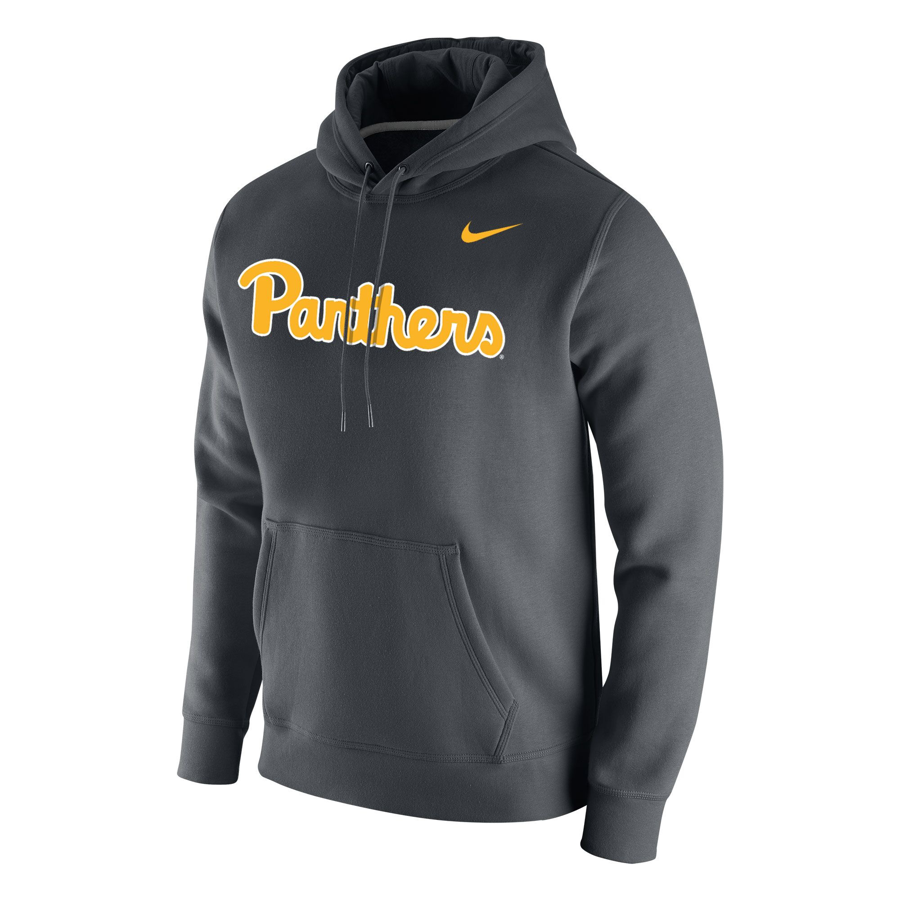 a2d6614520ff Nike Men s Pitt Script Club Fleece Hoodie - Gray