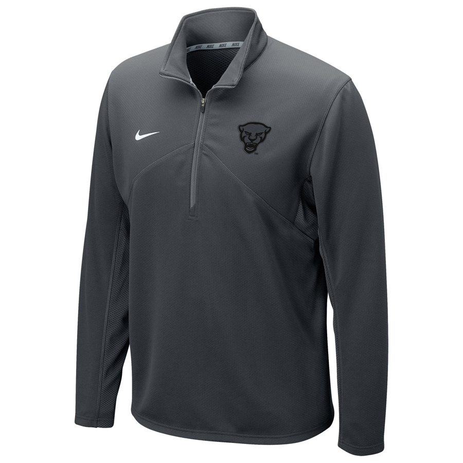 Cover Image For Nike 1/4 Zip Pullover Men's Panther Head Training - Grey