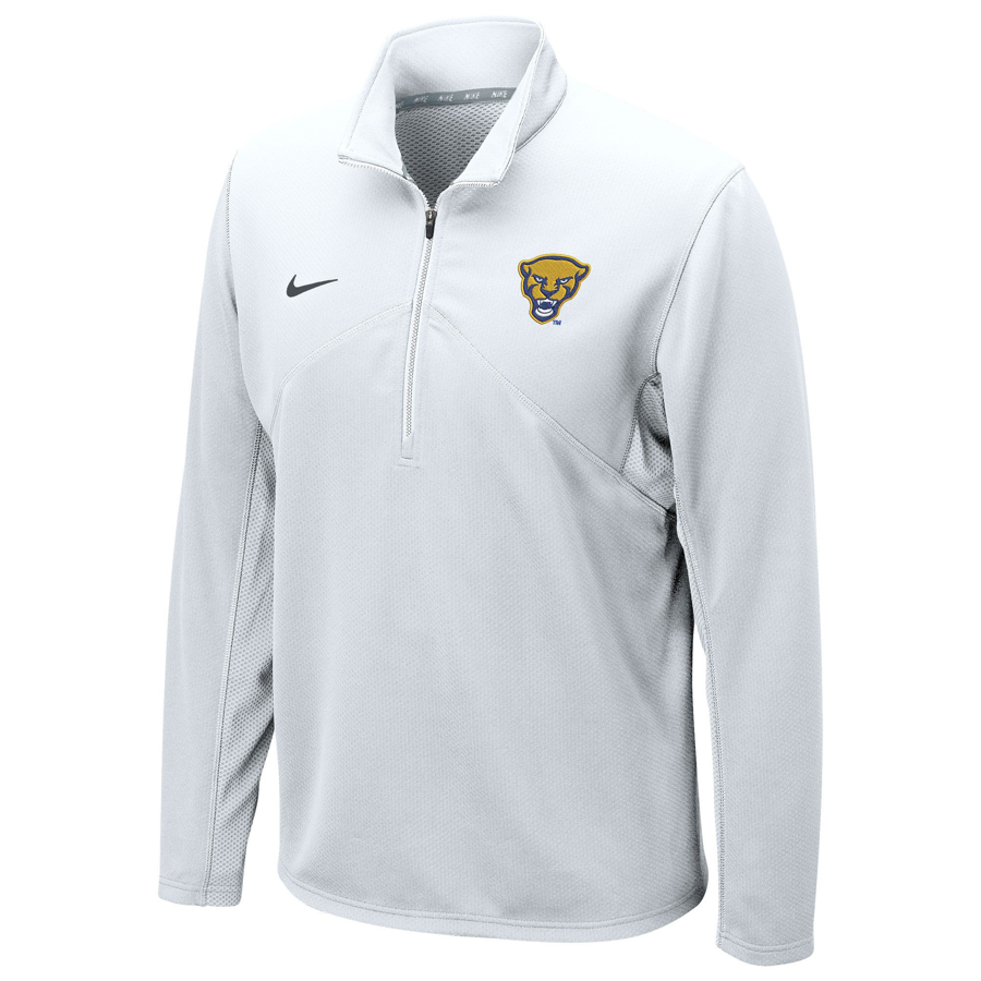 Image For Nike 1/4 Zip Pullover Men's Panther Head Training - White