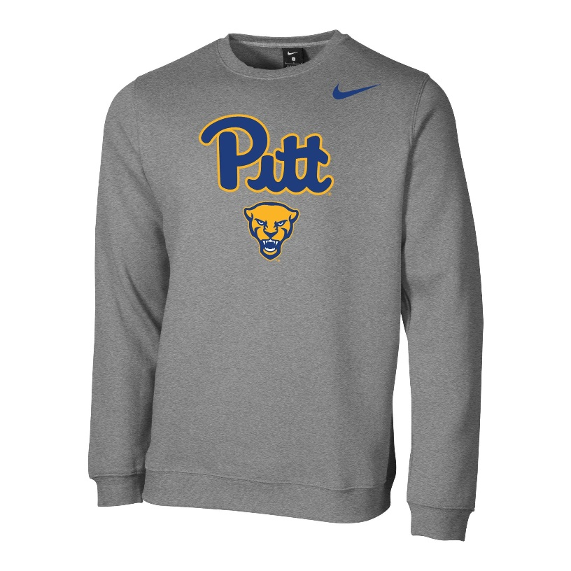 Image For Nike Crew Club Fleece Men's Panther Head - Gray