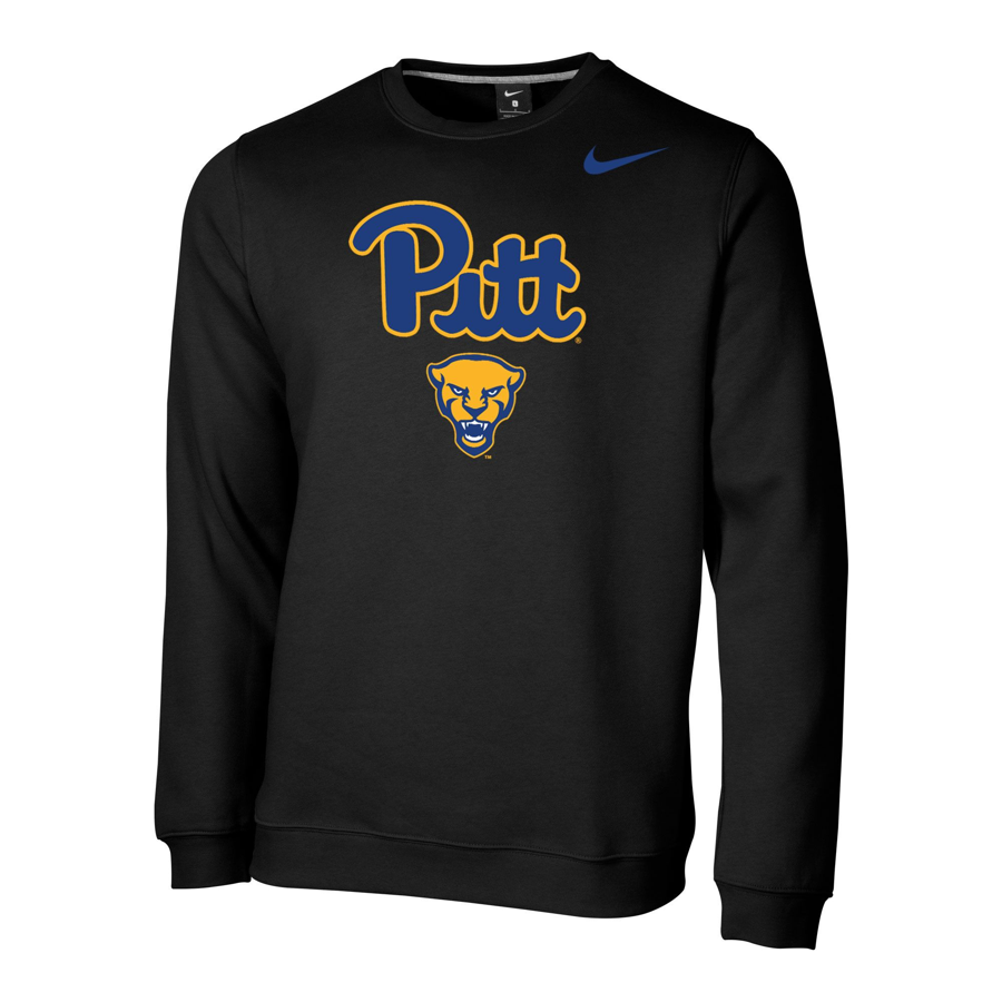 Image For Nike Crew Club Fleece Men's Panther Head - Black