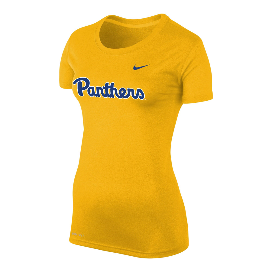 Cover Image For Nike Women's T-Shirt Legend Panther Script - Gold