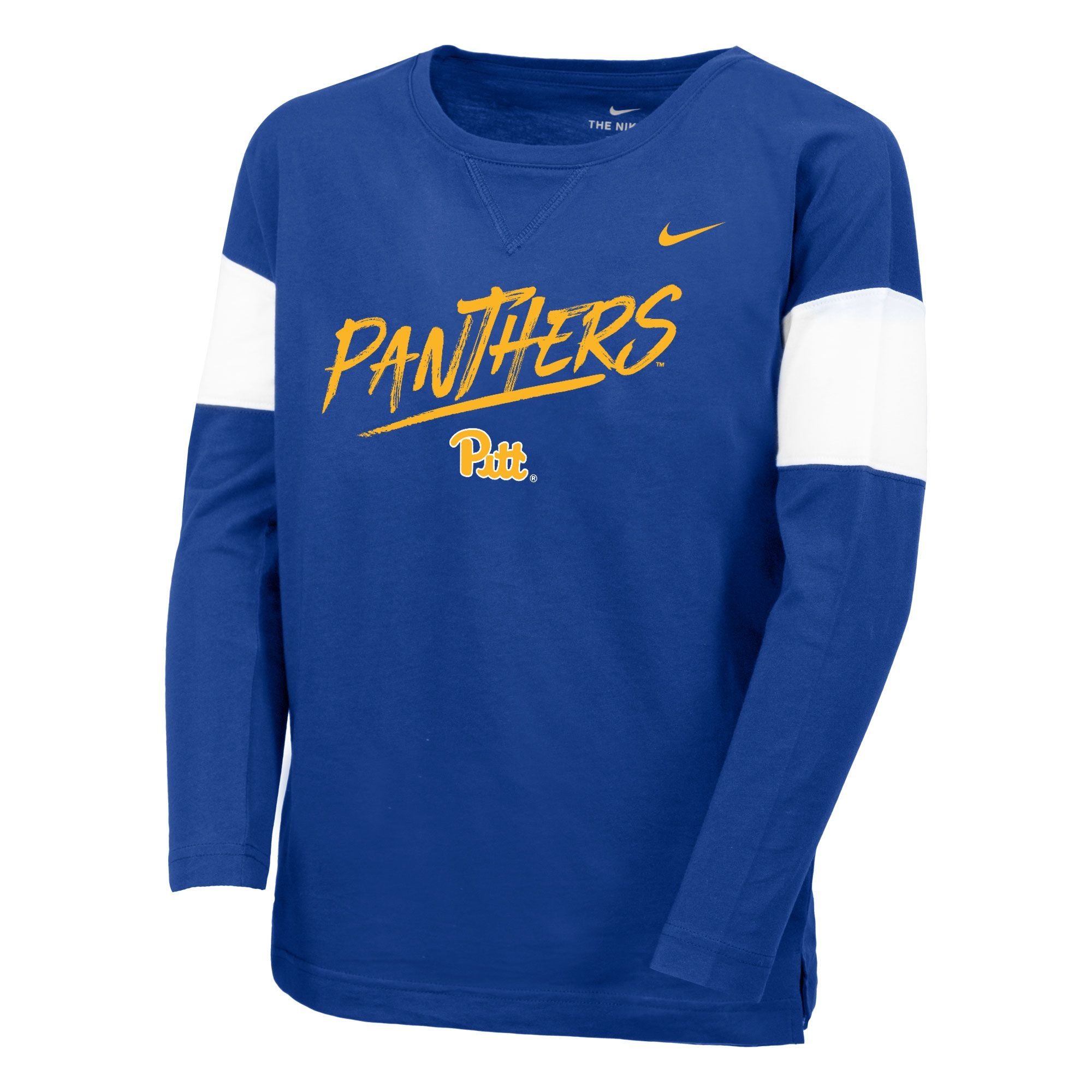 Image For Nike Youth Girls Long Sleeve T-Shirt Pitt Panthers - Royal
