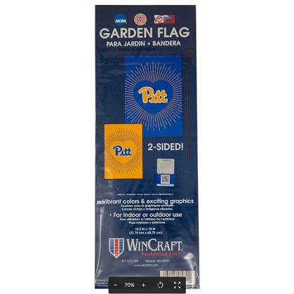 Image For 2 Sided Pitt Script Garden Flag