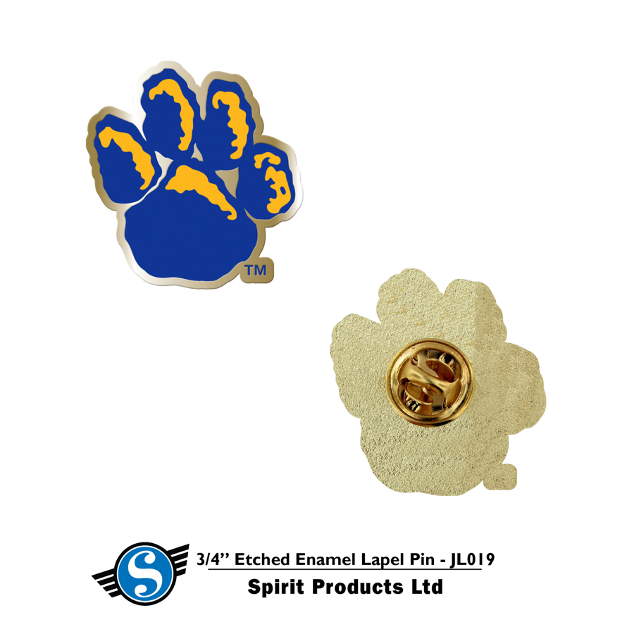 "Image For 3/4"" Die Cut LAPEL PIN PAW Print"