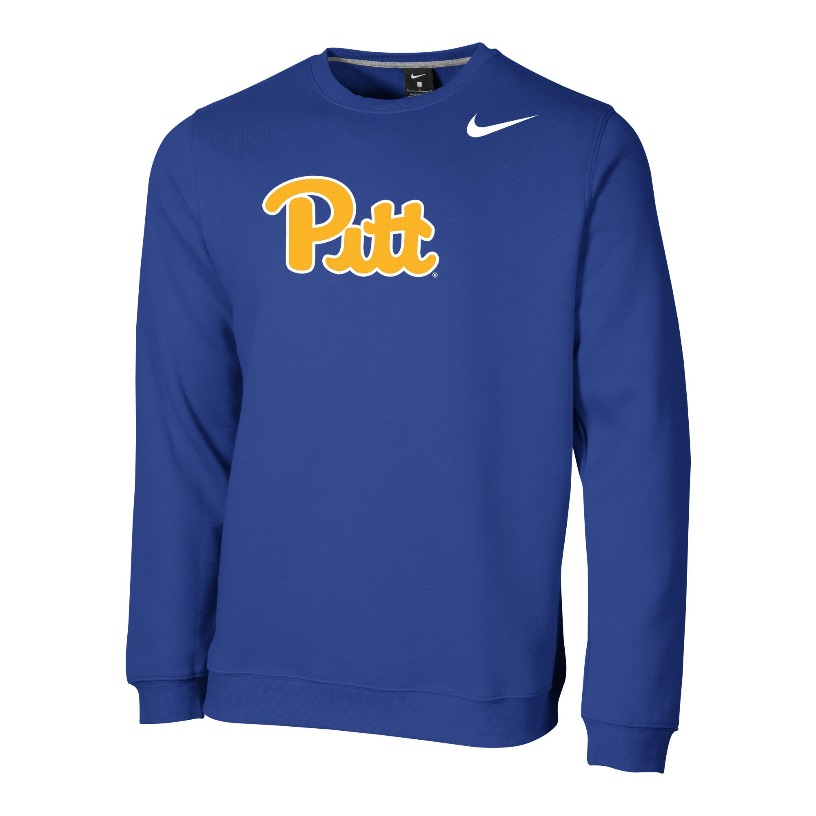 Image For Nike Crew Club Fleece Men's Pitt Script - Royal