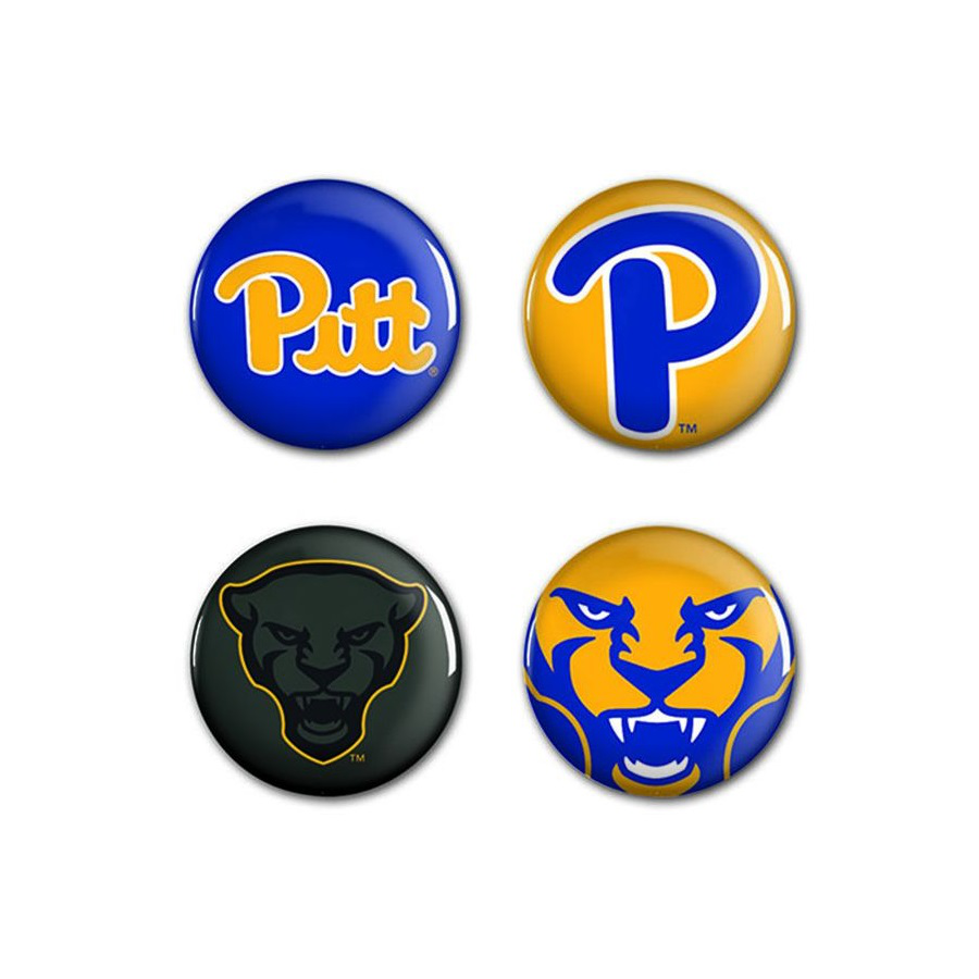 Image For Pitt Panthers Button 4 Pack