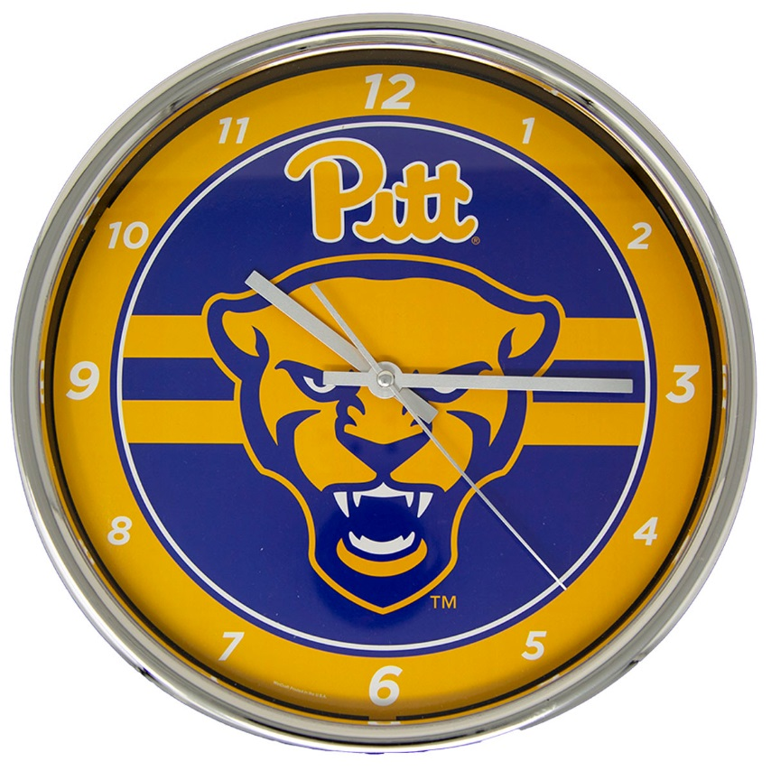 Image For Panther Head Chrome Wall Clock