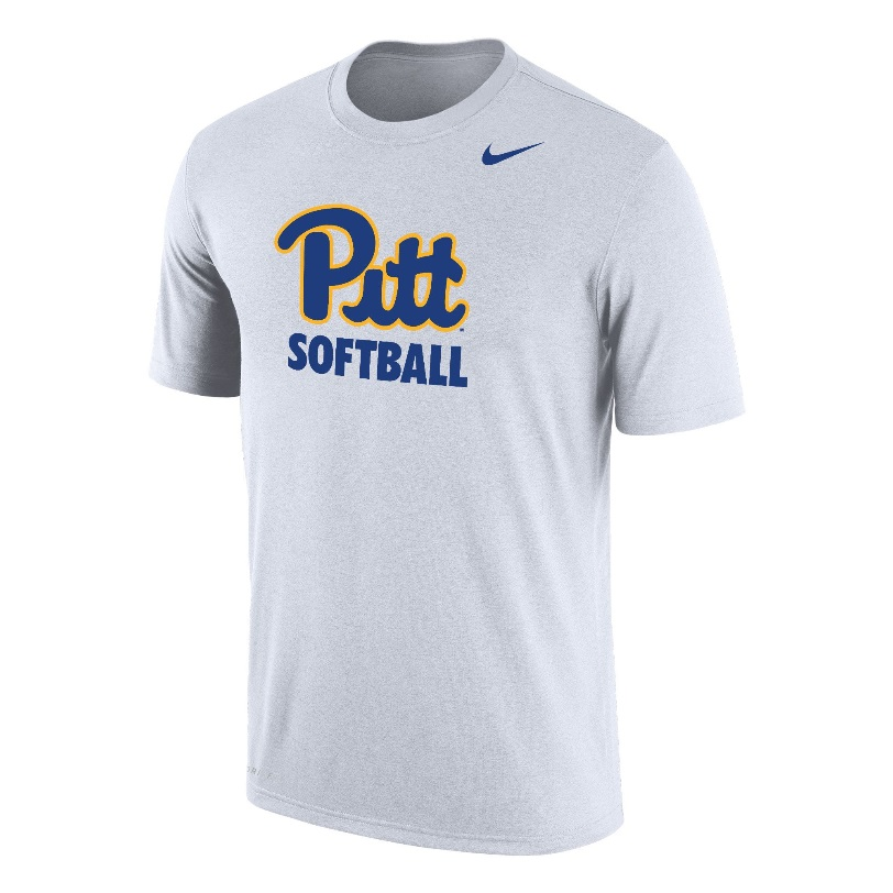 Image For Nike T-Shirt Dri-FIT Pitt Softball - White