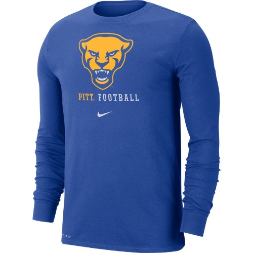 Image For Nike Long Sleeve T-Shirt Men's Panther Head Pitt Football