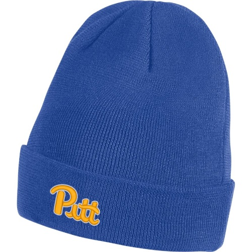 Image For Nike Beanie Adult's Cuffed Knit Pitt Script - Royal