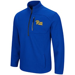 Image For Colosseum Men's 1/2 Zip Jacket Pitt Script - Royal