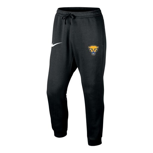 Image For Nike Men's Pant Club Fleece Jogger Panther Head - Black