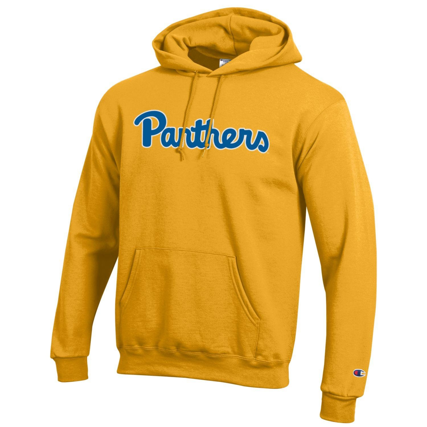 Image For Champion Hooded Gold Panthers Script Sweatshirt