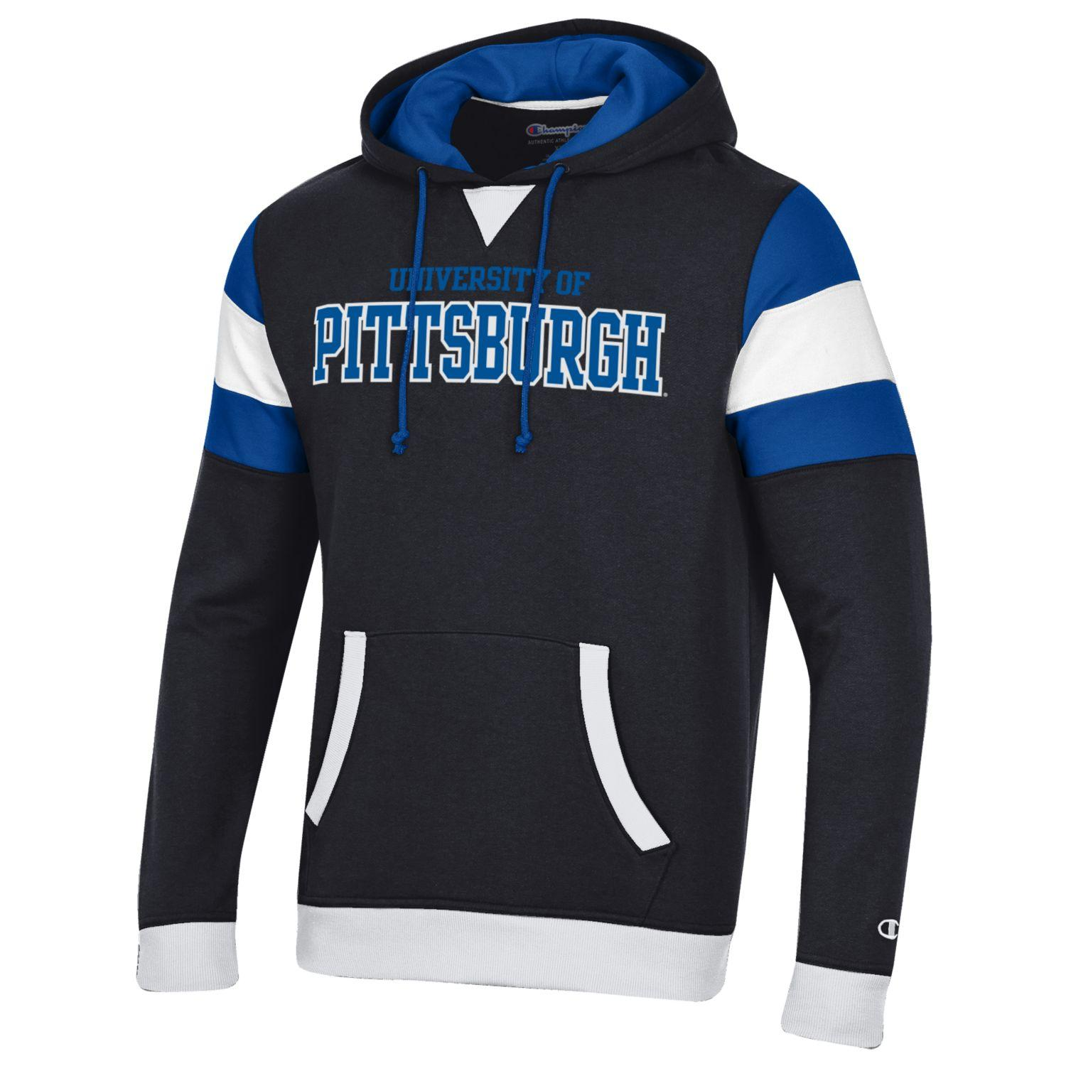 Cover Image For Champion Hood Adult University of Pittsburgh - Black