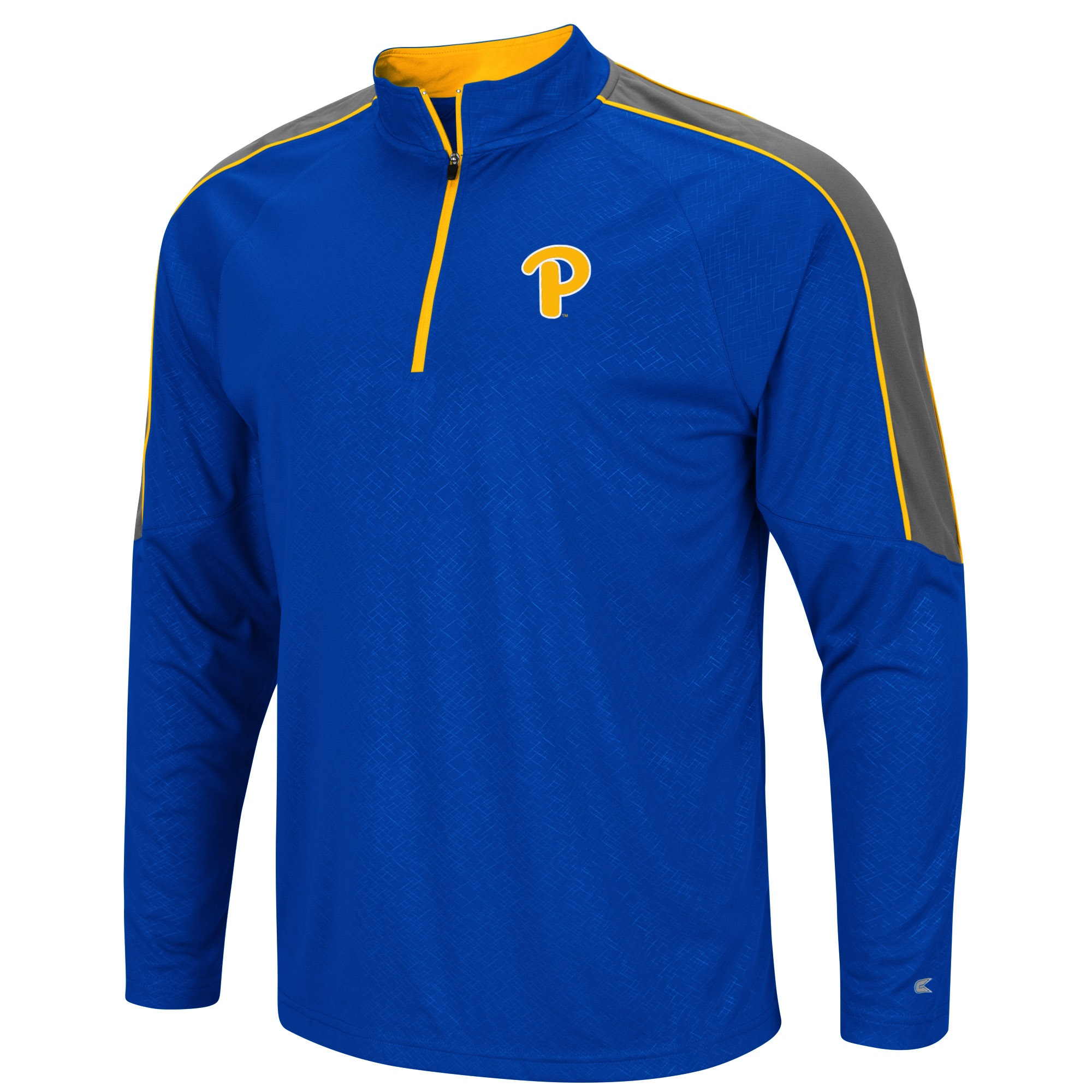 Image For Colosseum Men's Pitt Script 1/4 Zip Windshirt