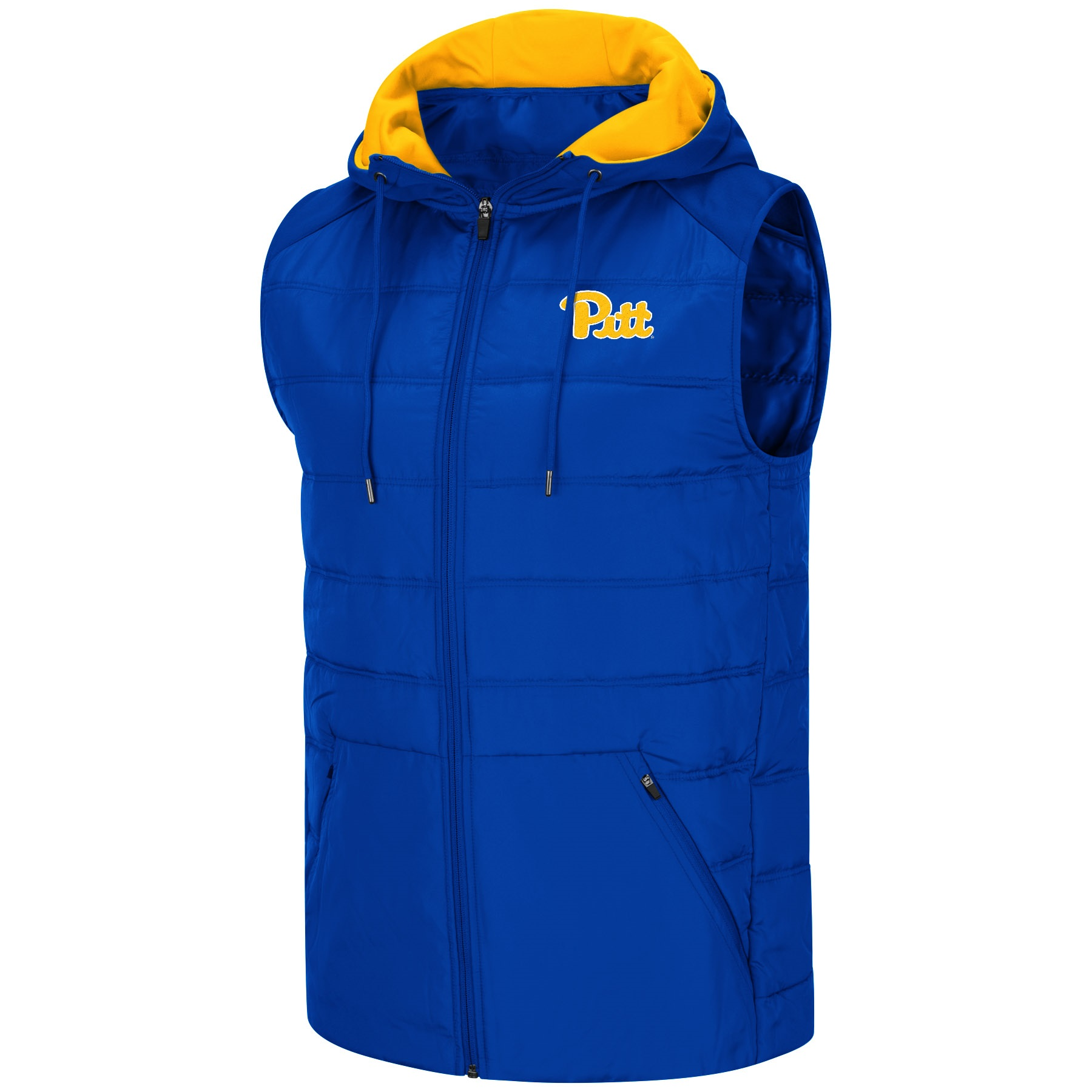 Image For Colosseum Men's Pitt Hooded Vest