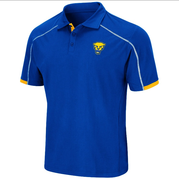 Image For Colosseum Men's Panther Head Polo-Royal