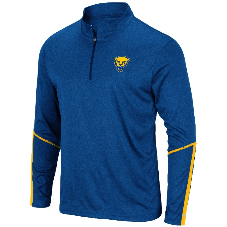 Image For Colosseum Men's 1/4 Zip Panther Head - Royal