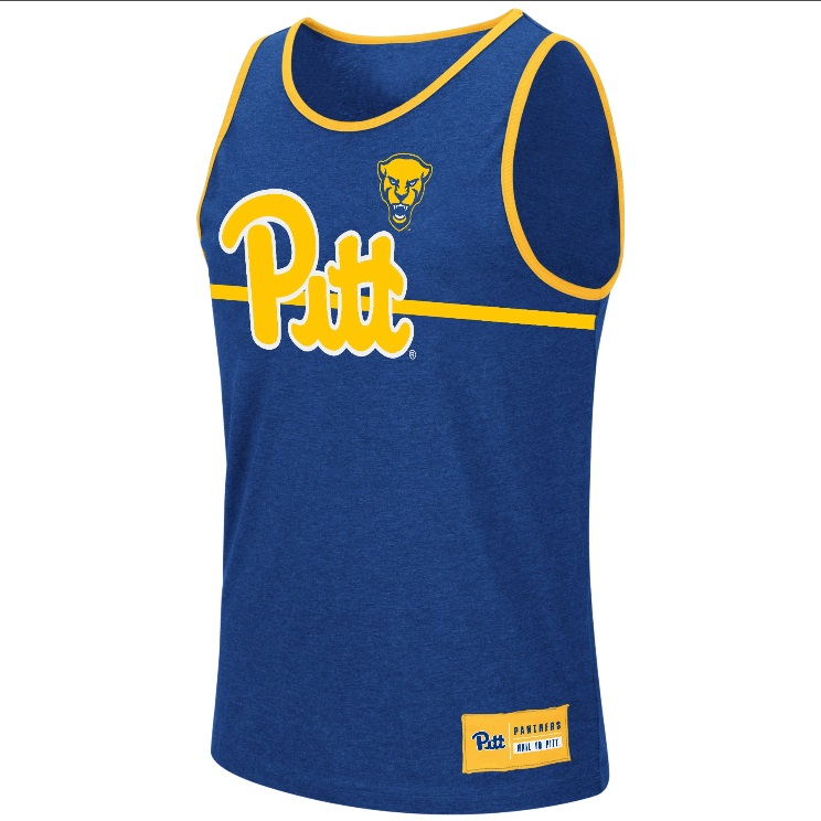 Image For Colosseum Adult Tank Pitt Script/Panther Head - Royal