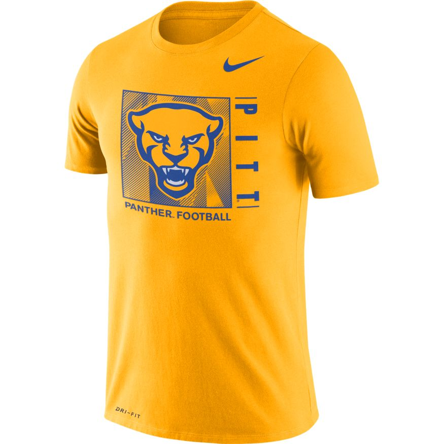 Image For Nike T-Shirt Panther Head Football-Gold