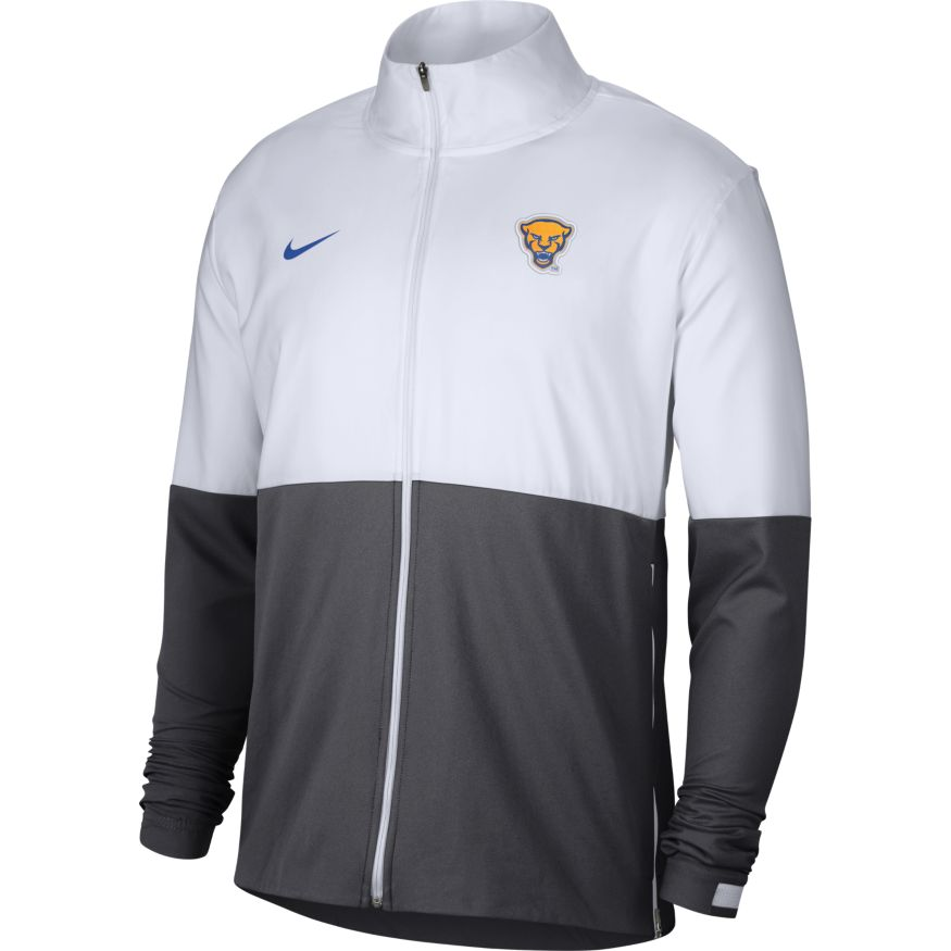 Cover Image For Nike Full Zip Colorblock Panther Head - Grey/White