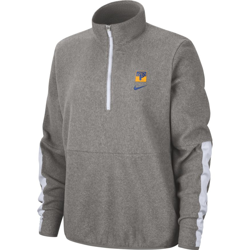 Image For Nike Women's 1/4 Zip Fleece Pullover - Grey