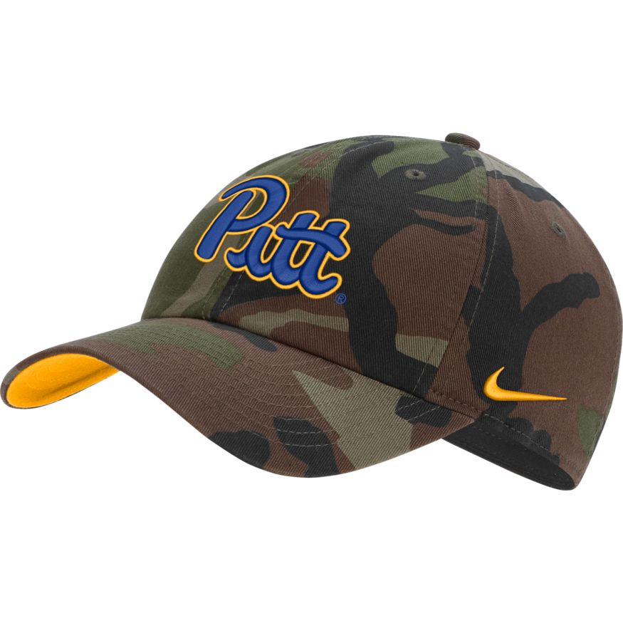 Cover Image For Nike Adult's H86 Adjustable Hat Pitt Script - Camo